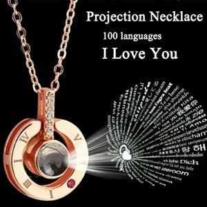 925/18k RGold Plated/106 language I❤You Necklace